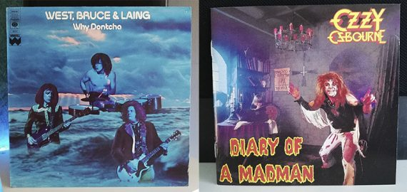West, Bruce and Laing Why Dontcha Ozzy Osbourne Diary of a Madman disco