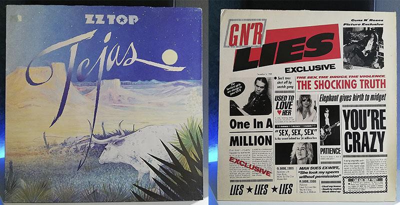 ZZ Top Tejas Guns N' Roses G N' R Lies disco