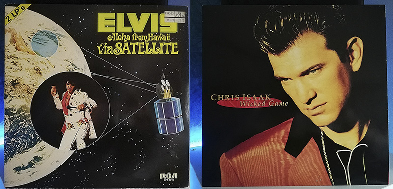 Elvis Presely Aloha from Hawaii Via Satellite Chris Isaak Wicked Game disco