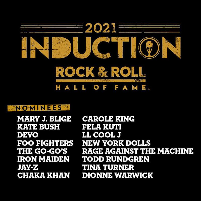 Nominados y candidatos a entrar al Rock & Roll Hall of Fame 2021
