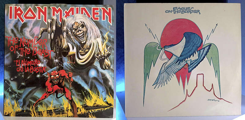 Iron Maiden The Number Of The Beast Eagles On The Border disco