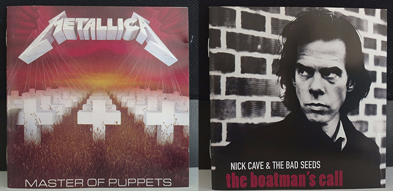 Metallica Master of Puppets Nick Cave and The Bad Seeds The Boatman's Call disco