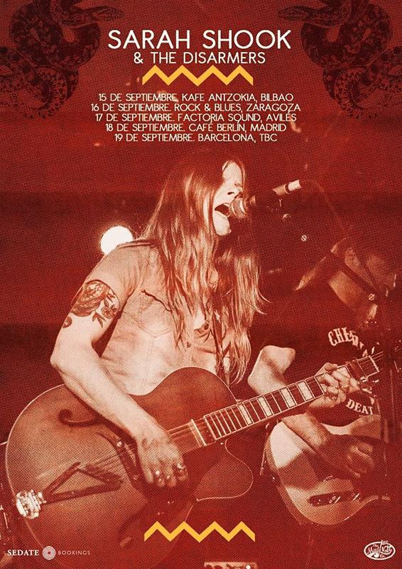Sarah Shook & The Disarmers gira septiembre 2020