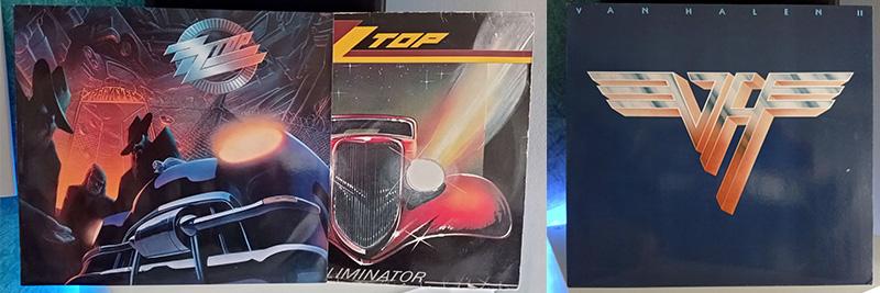 ZZ Top Eliminator y Recycler Van Halen Van Halen II disco