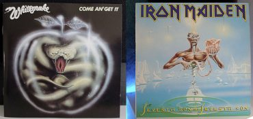 Whitesnake Come An' Get It Iron Maiden Seventh Son Of A Seventh Son disco