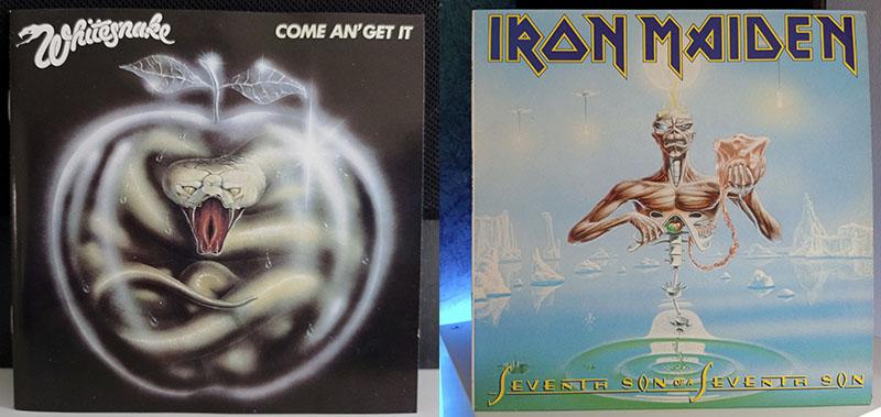 Whitesnake Come An' Get It Iron Maiden Seventh Son Of A Seventh Son disco