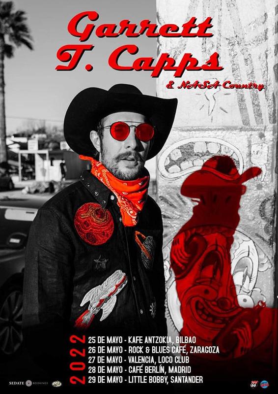 Gira de Garrett T. Capps & Nasa Country en mayo 2022