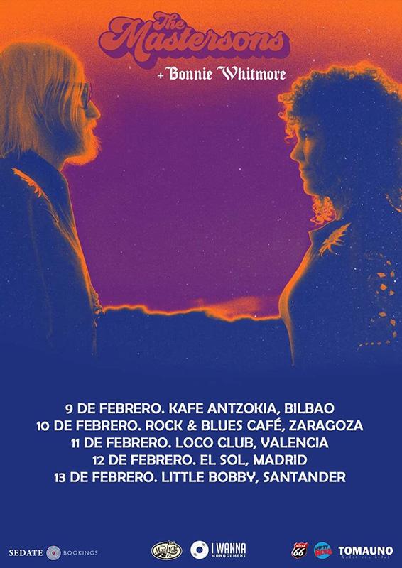 Gira española de The Mastersons y Bonnie Whitmore como telonera 2022