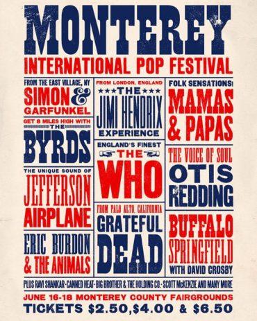 Monterey International Pop Music Festival 1967. El primer gran festival 1966