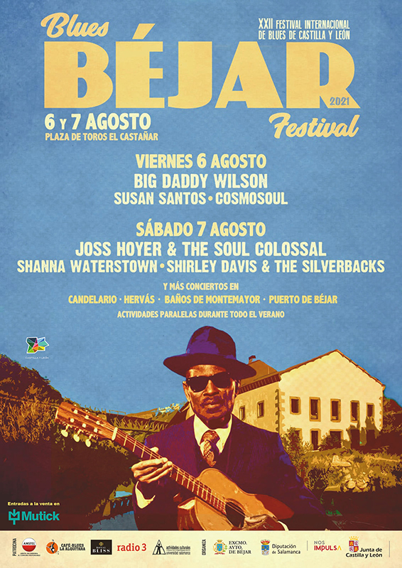 Blues Béjar Festival anuncia su cartel para los días 6 y 7 de agosto 2021