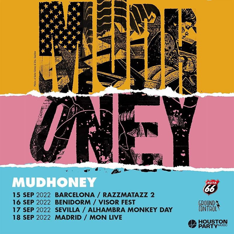 Gira de Mudhoney en septiembre de 2022