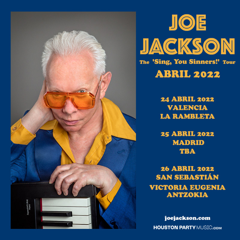 Joe Jackson anuncia gira española para abril de 2022
