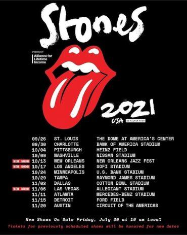 Los Rolling Stones reanudan su gira No Filter por Norteamérica