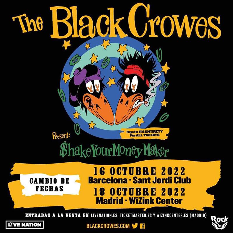 Nuevas fechas españolas para gira europea de los Black Crowes en 2022