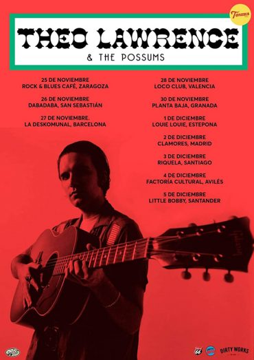 Theo Lawrence junto a The Possums anuncian gira española