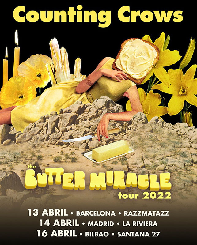 Counting Crowes presentarán Butter Miracle Suite One en España