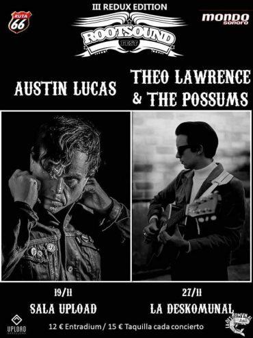 Tercera edición del Rootsound Fest en Barcelona con Austin Lucas y Theo Lawrence & The Possums 2021