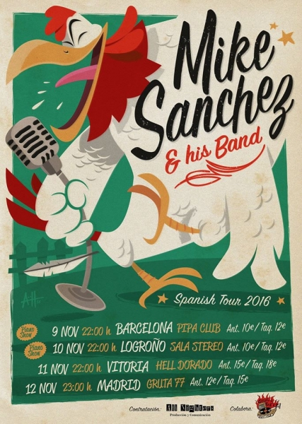 Mike-Sanchez-his-Band-de-gira-por-España